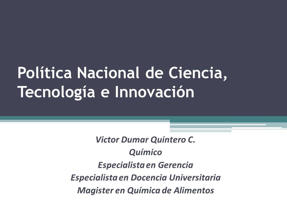 Política Nacional de Ciencia, Tecnología e Innovación