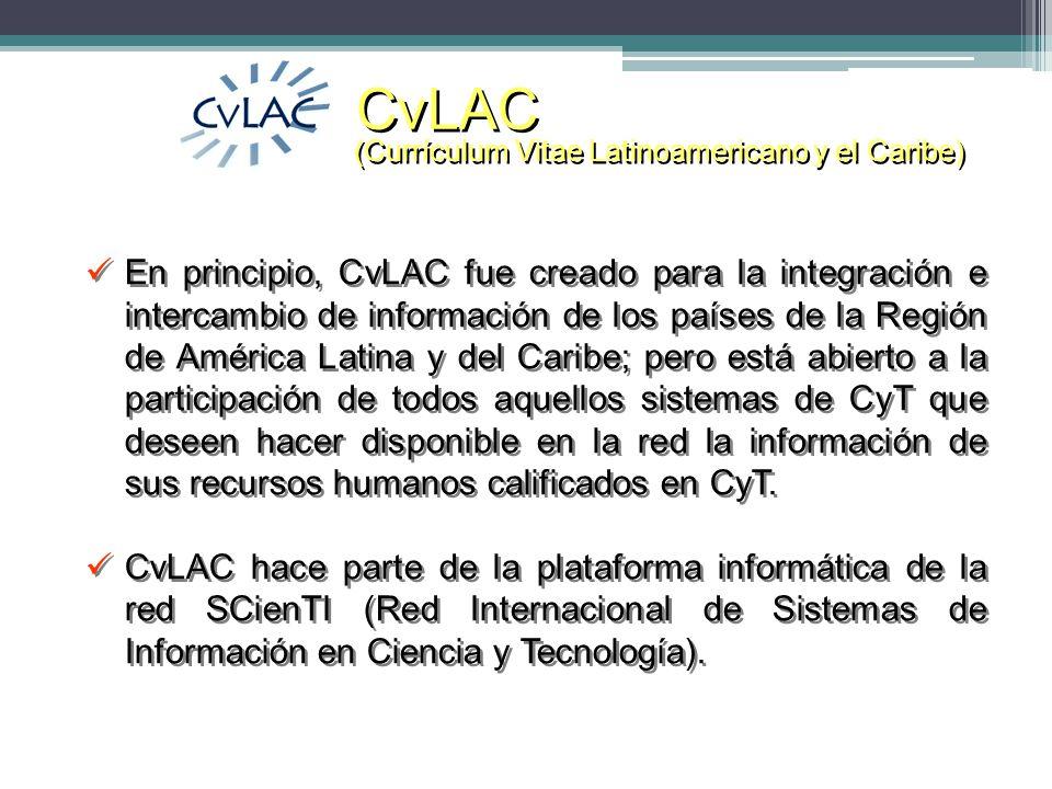 CvLAC (Currículum Vitae Latinoamericano y el Caribe)
