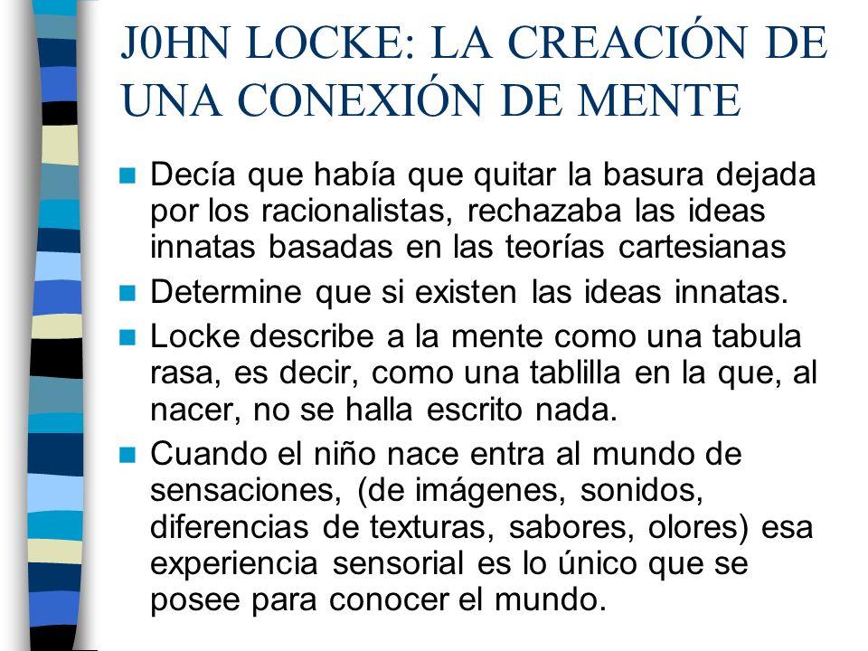 J0HN LOCKE: LA CREACIÓN DE UNA CONEXIÓN DE MENTE