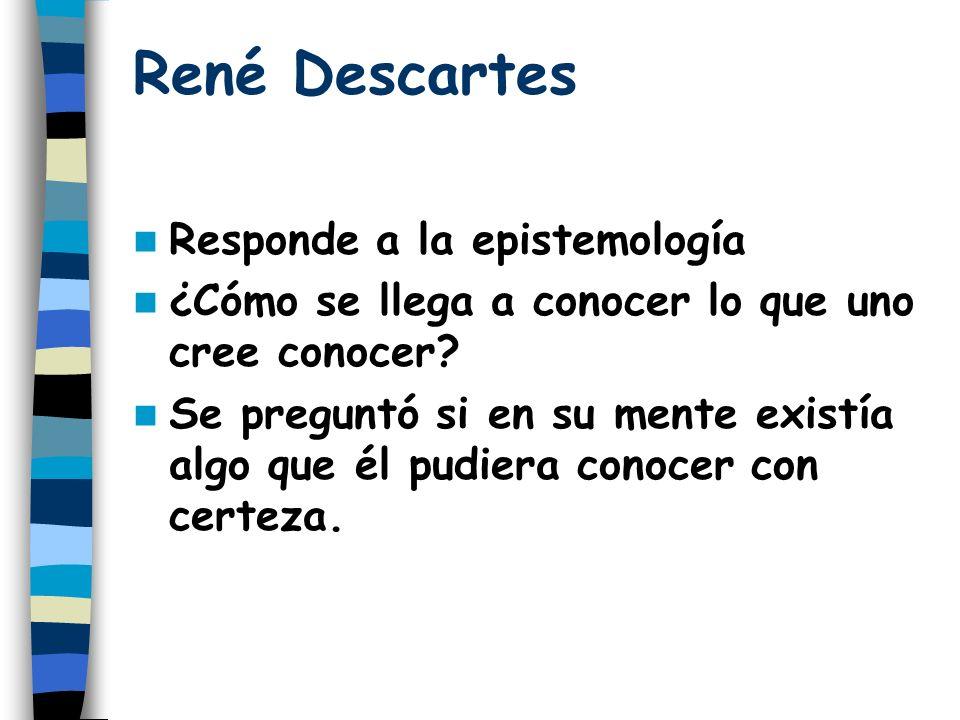 René Descartes Responde a la epistemología