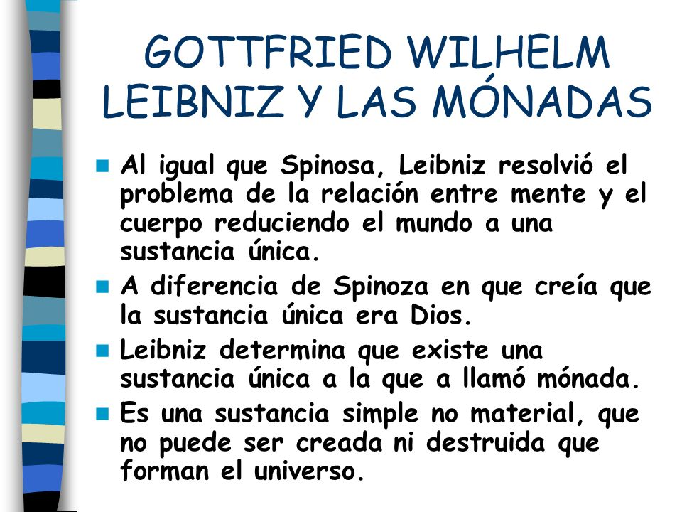 GOTTFRIED WILHELM LEIBNIZ Y LAS MÓNADAS