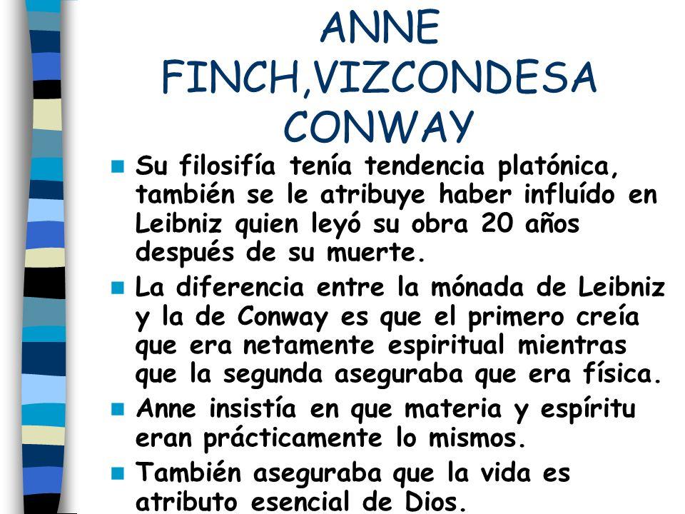 ANNE FINCH,VIZCONDESA CONWAY