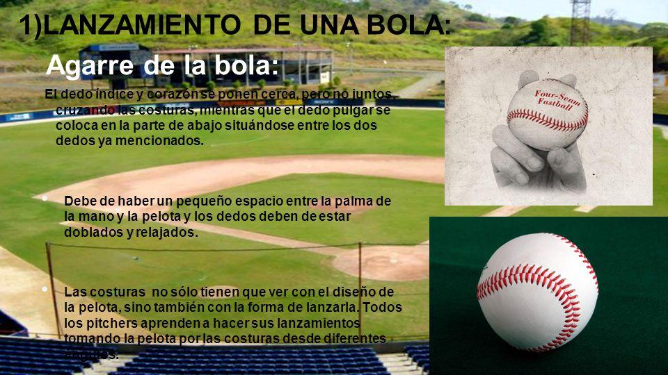 1)LANZAMIENTO DE UNA BOLA: Agarre de la bola: