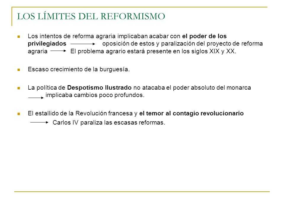 LOS LÍMITES DEL REFORMISMO