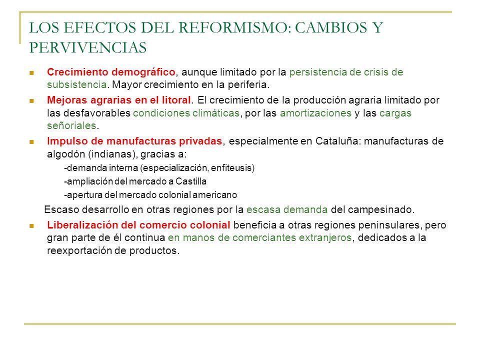 LOS EFECTOS DEL REFORMISMO: CAMBIOS Y PERVIVENCIAS