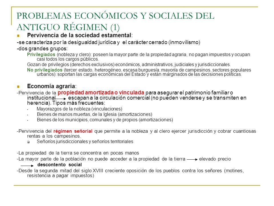 PROBLEMAS ECONÓMICOS Y SOCIALES DEL ANTIGUO RÉGIMEN (1)