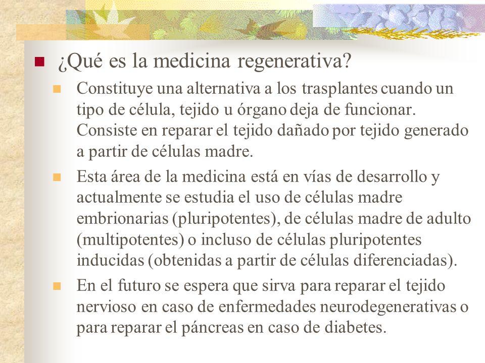 ¿Qué es la medicina regenerativa