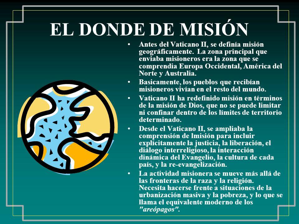 EL DONDE DE MISIÓN