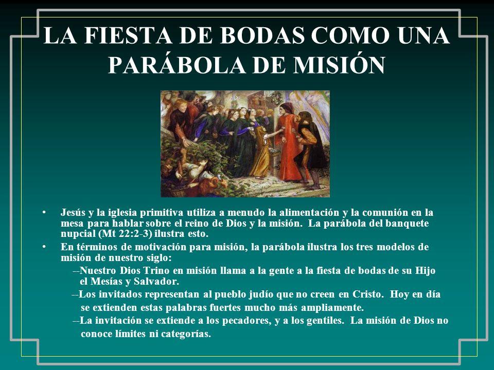 LA FIESTA DE BODAS COMO UNA PARÁBOLA DE MISIÓN