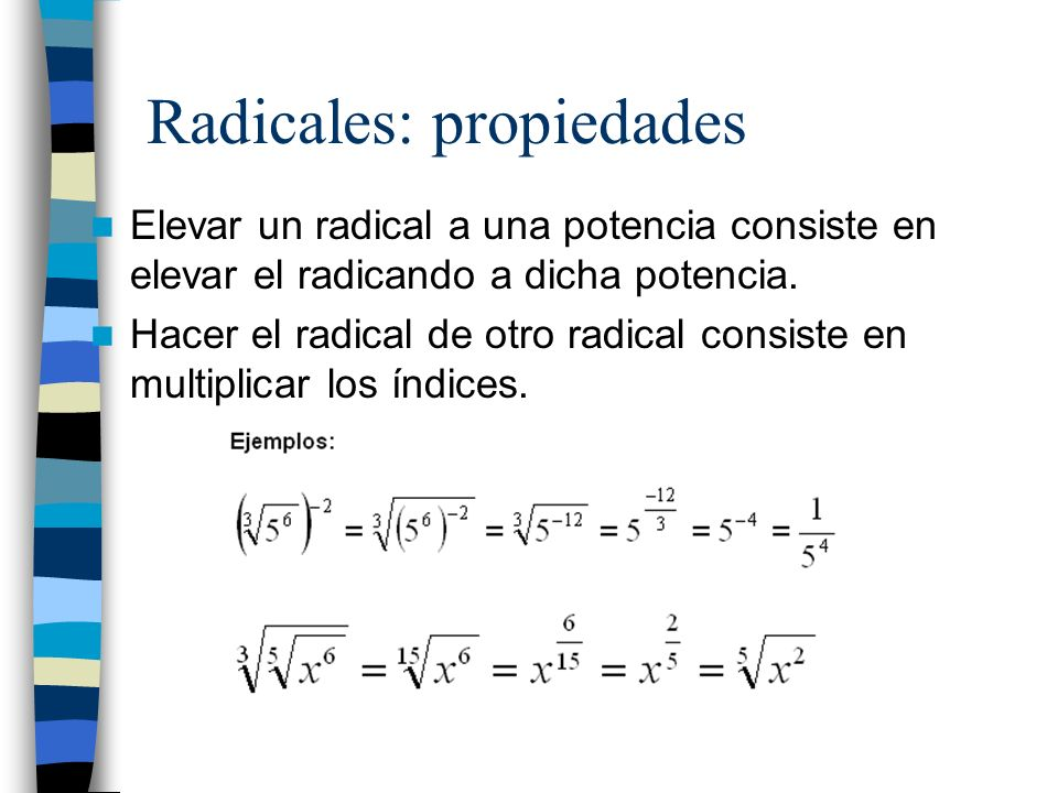 Radicales: propiedades