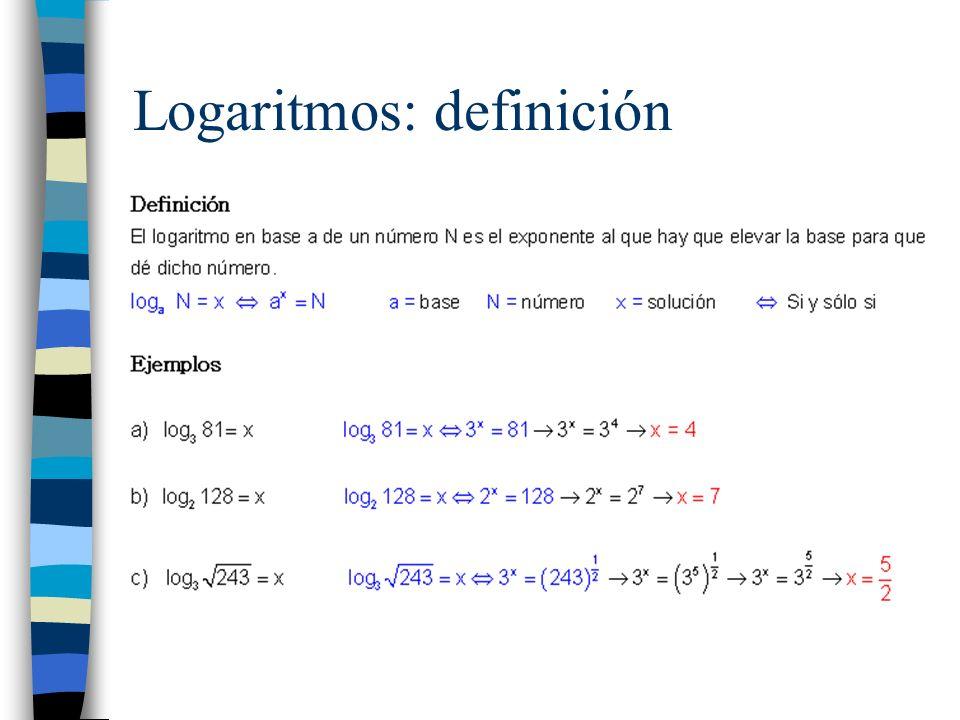 Logaritmos: definición