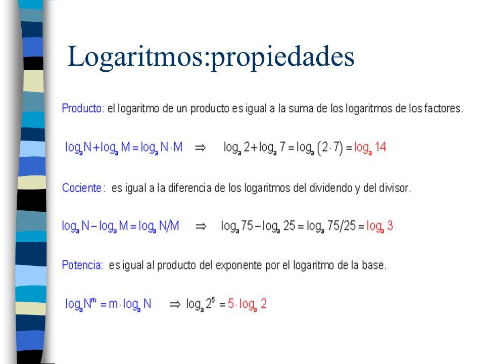 Logaritmos:propiedades