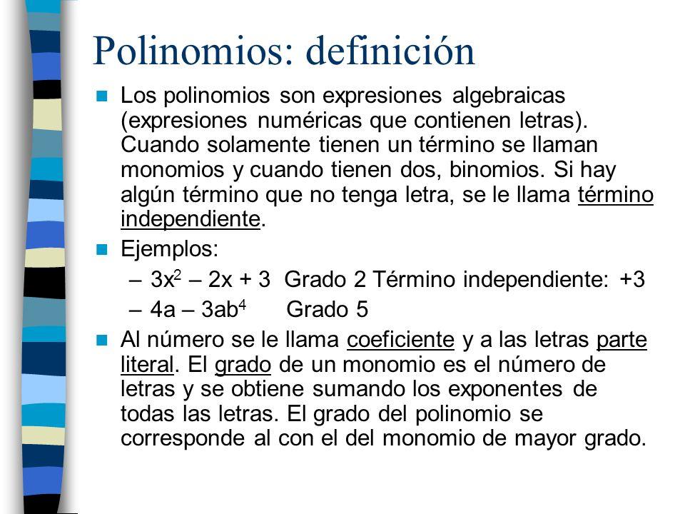 Polinomios: definición