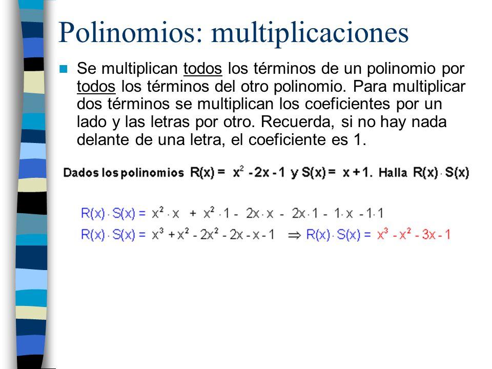 Polinomios: multiplicaciones