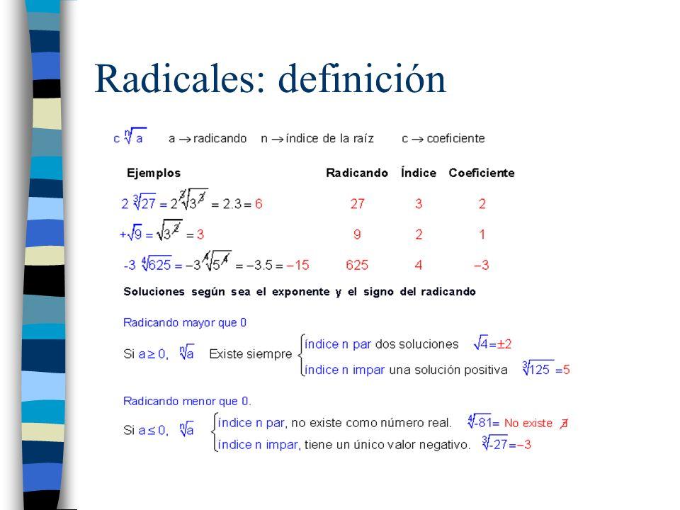 Radicales: definición