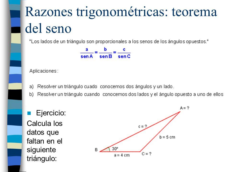 Razones trigonométricas: teorema del seno