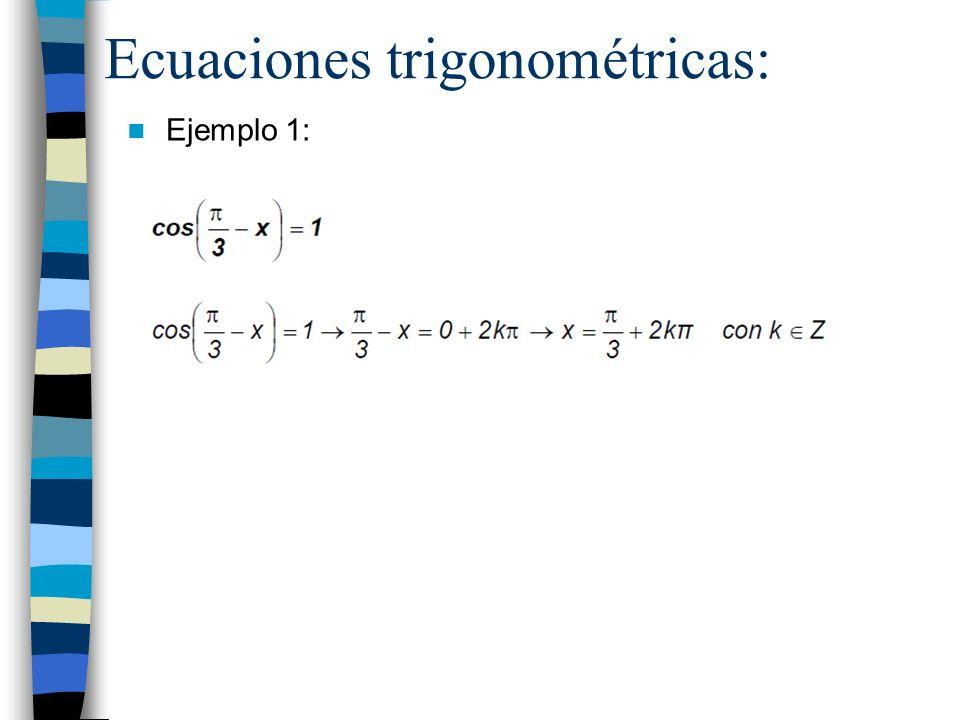Ecuaciones trigonométricas: