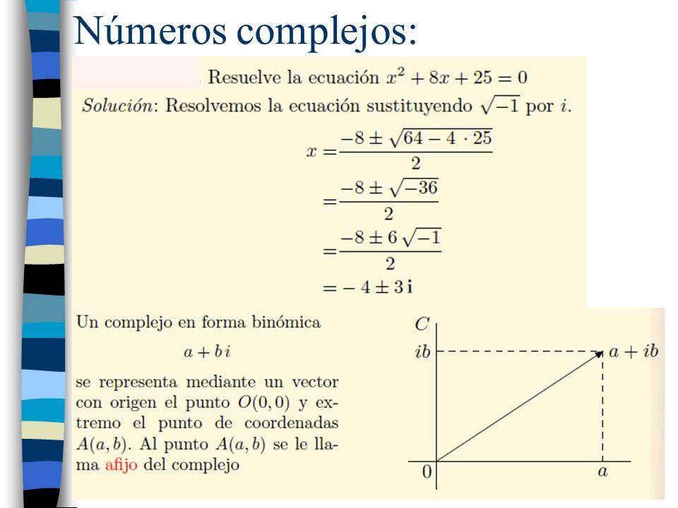 Números complejos: