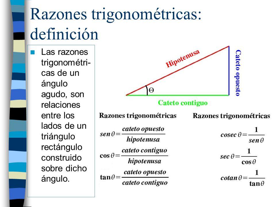 Razones trigonométricas: definición