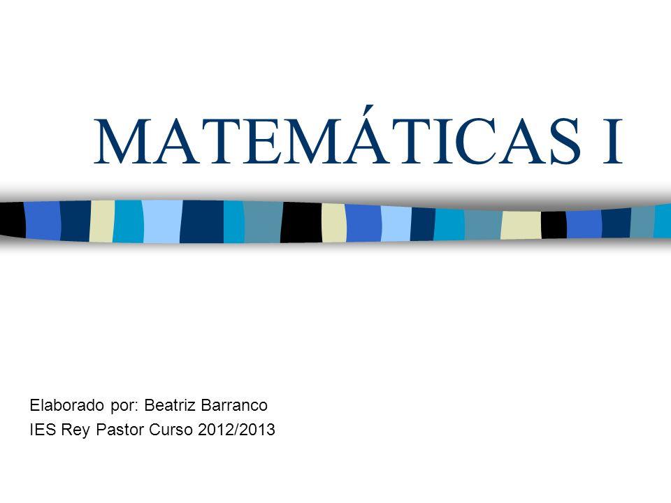 Elaborado por: Beatriz Barranco IES Rey Pastor Curso 2012/2013