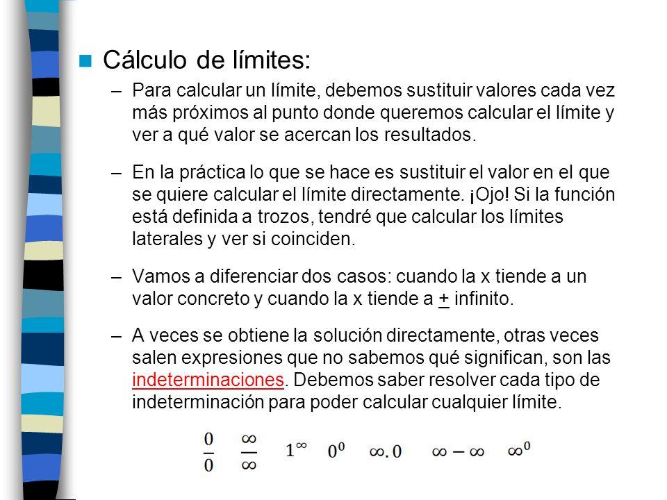 Cálculo de límites: