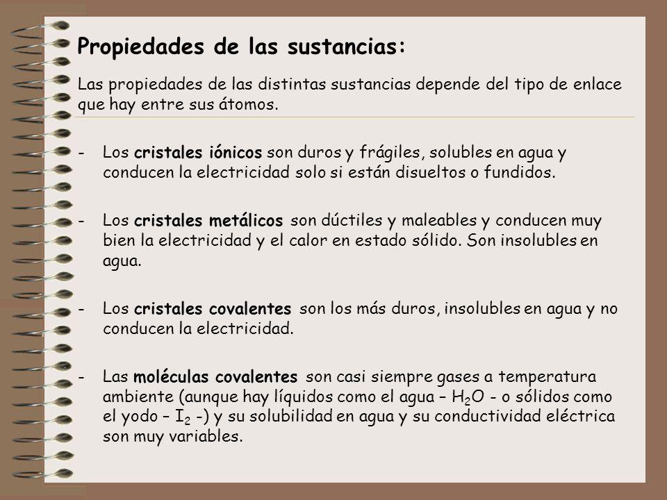 Propiedades de las sustancias: