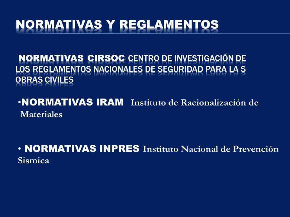 NORMATIVAS IRAM Instituto de Racionalización de Materiales