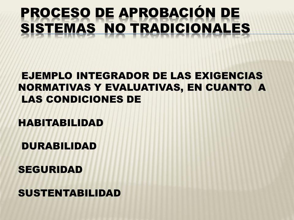 PROCESO DE APROBACIÓN DE SISTEMAS NO TRADICIONALES