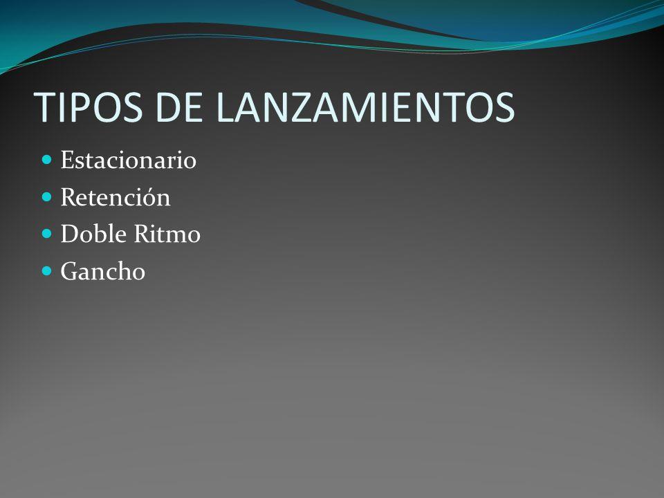 TIPOS DE LANZAMIENTOS Estacionario Retención Doble Ritmo Gancho