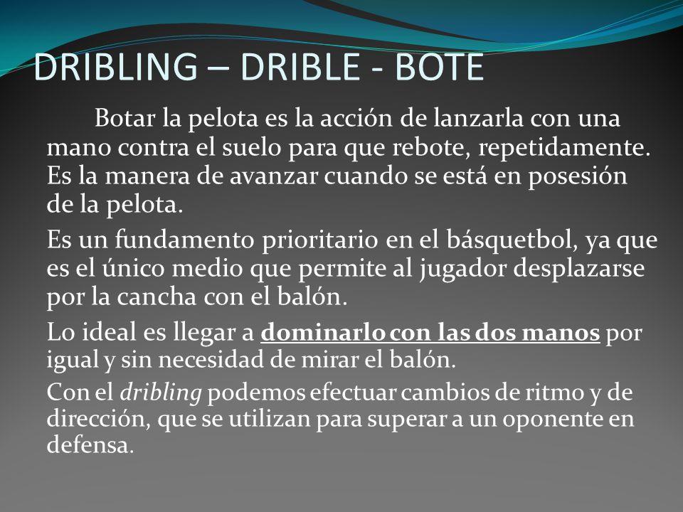 DRIBLING – DRIBLE - BOTE