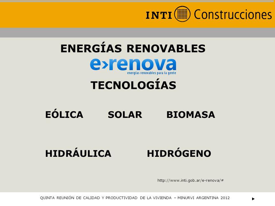 ENERGÍAS RENOVABLES TECNOLOGÍAS EÓLICA SOLAR BIOMASA HIDRÁULICA
