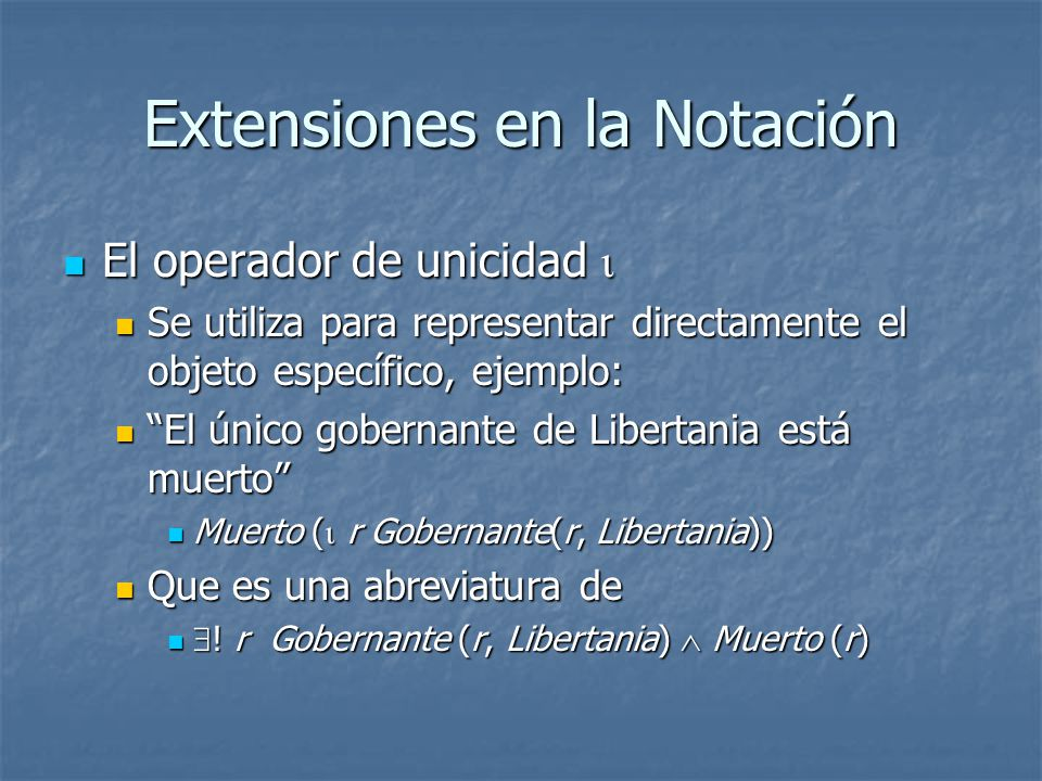 Extensiones en la Notación