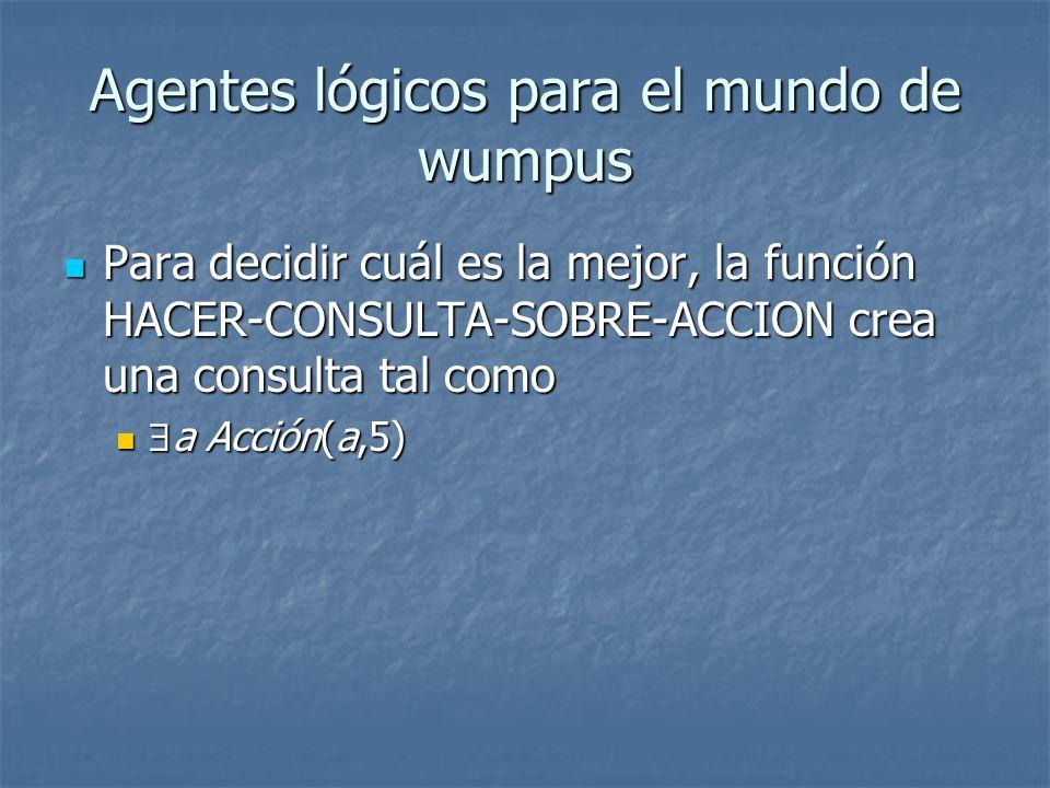 Agentes lógicos para el mundo de wumpus