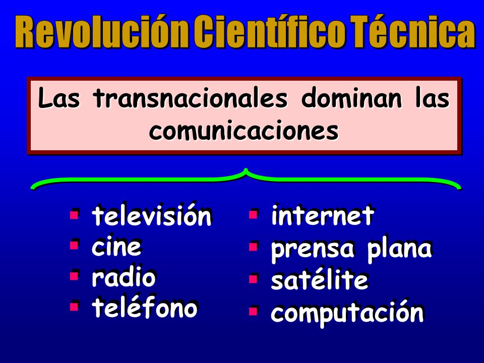 Las transnacionales dominan las comunicaciones