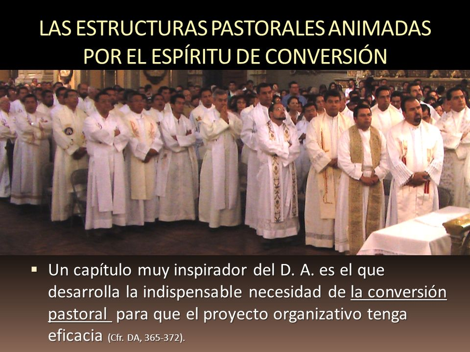 LAS ESTRUCTURAS PASTORALES ANIMADAS POR EL ESPÍRITU DE CONVERSIÓN