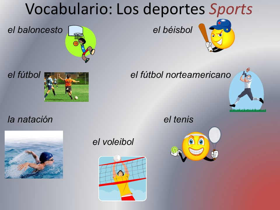 Vocabulario: Los deportes Sports