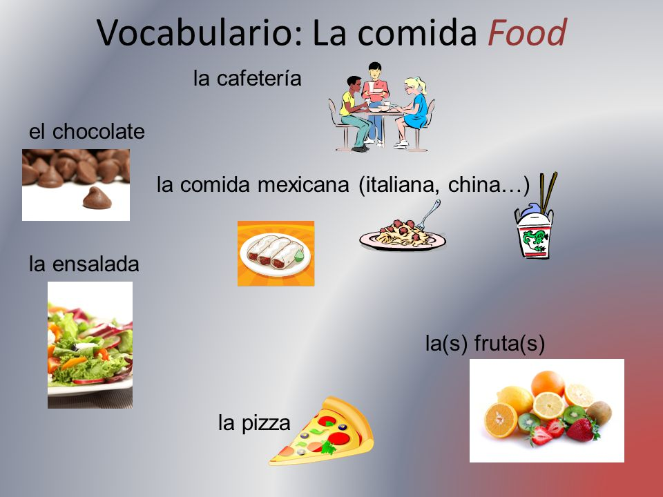 Vocabulario: La comida Food