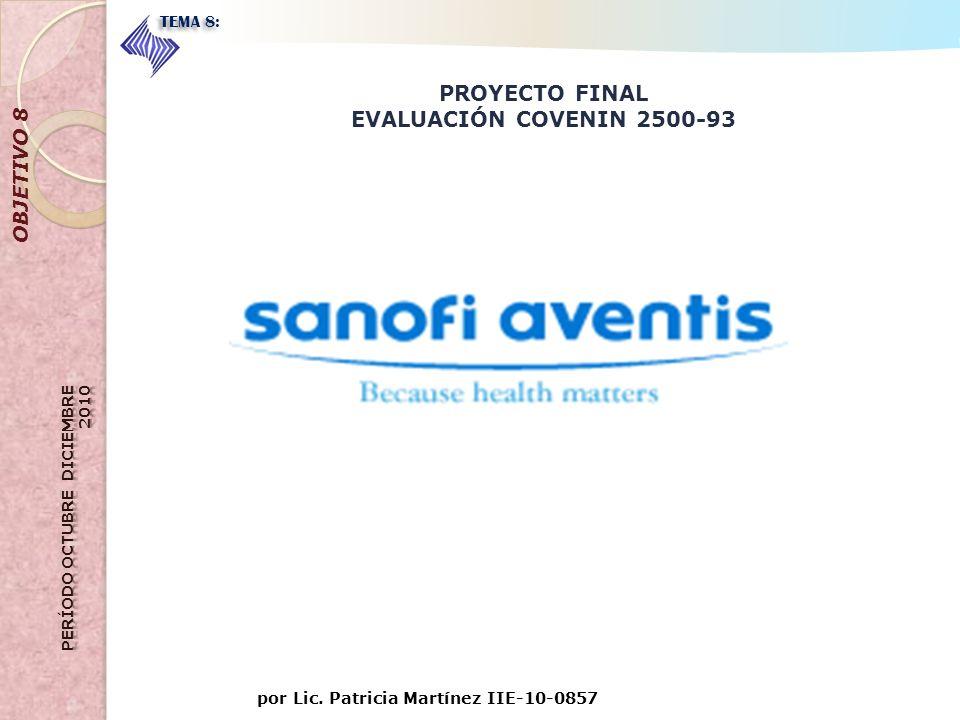 PROYECTO FINAL EVALUACIÓN COVENIN 2500-93