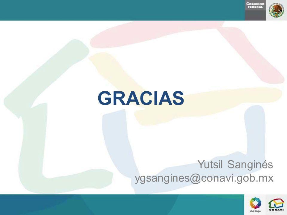 GRACIAS Yutsil Sanginés ygsangines@conavi.gob.mx