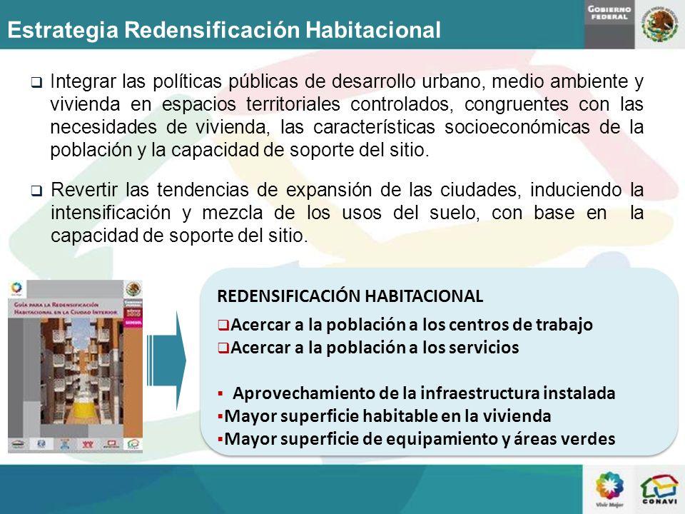 Estrategia Redensificación Habitacional