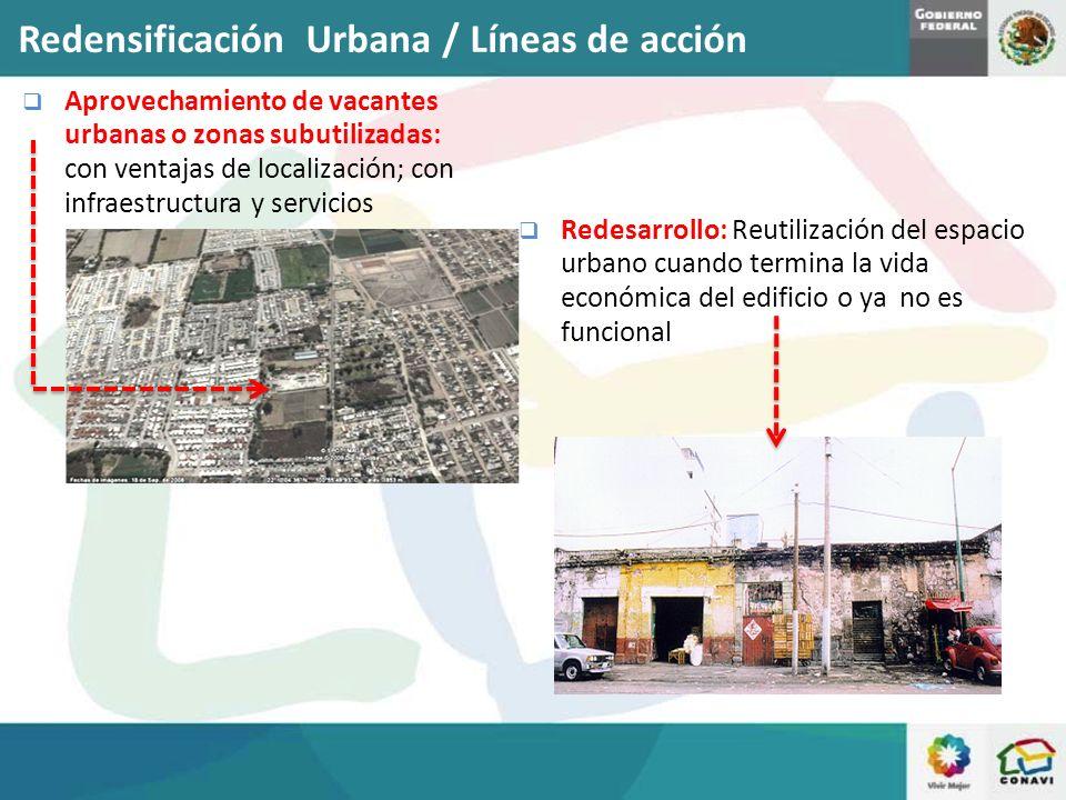 Redensificación Urbana / Líneas de acción