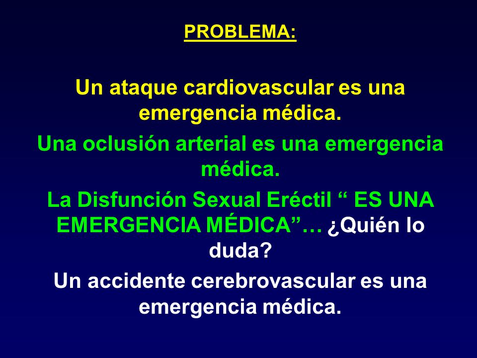 Un ataque cardiovascular es una emergencia médica.