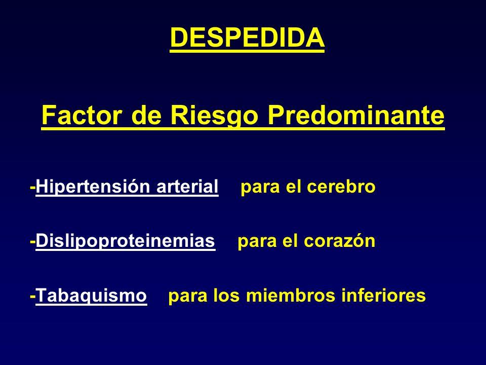 Factor de Riesgo Predominante