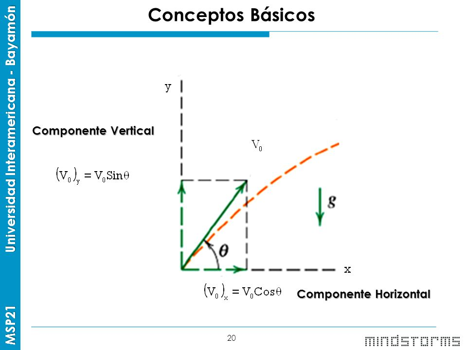 Conceptos Básicos Componente Vertical Componente Horizontal