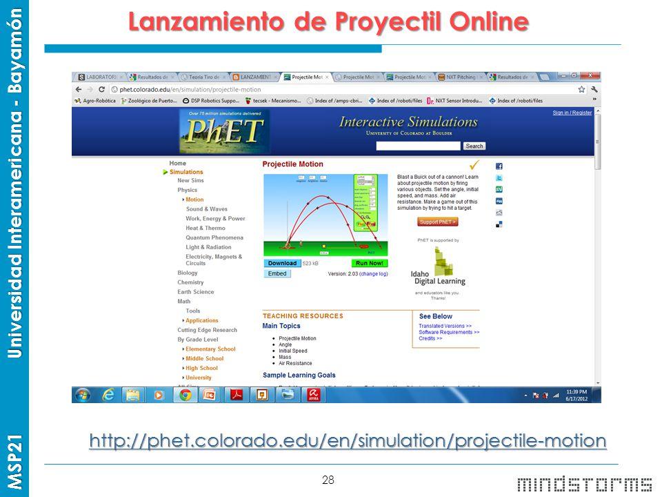 Lanzamiento de Proyectil Online
