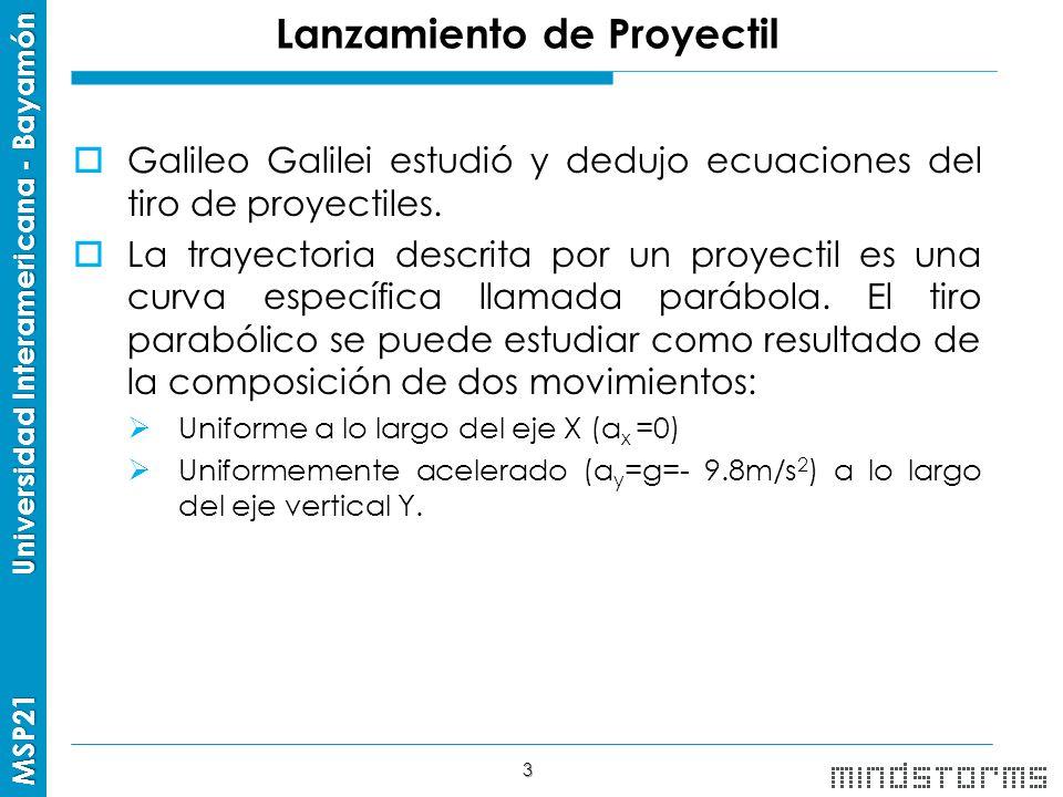 Lanzamiento de Proyectil