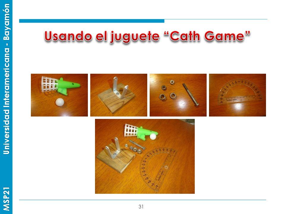 Usando el juguete Cath Game