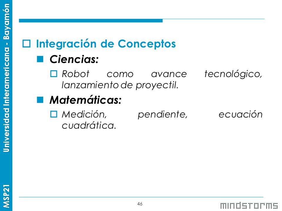 Integración de Conceptos Ciencias: