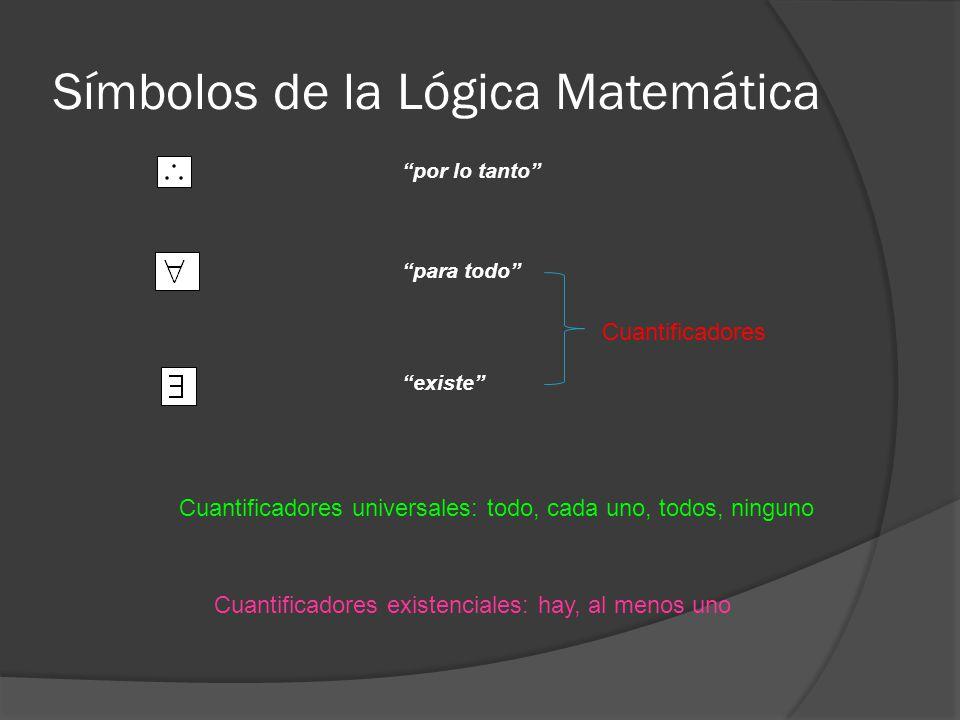 Símbolos de la Lógica Matemática