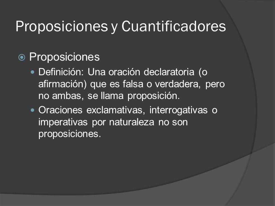 Proposiciones y Cuantificadores